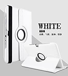 AE SAMSUNG GALAXY TAB2 10.1 P5100 P5110 360 DEGREE ROTATING LEATHER CASE COVER White