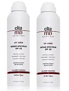 EltaMD SPF 45 UV Aero Sunscreen, 6 Fluid Ounce, 2 Count
