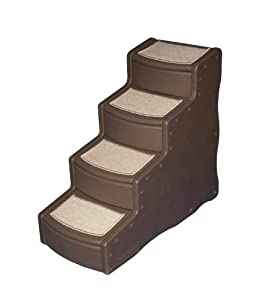 Pet Gear Easy Step IV Pet Stairs, 4-step/for cats and dogs up to 150-pounds, Chocolate