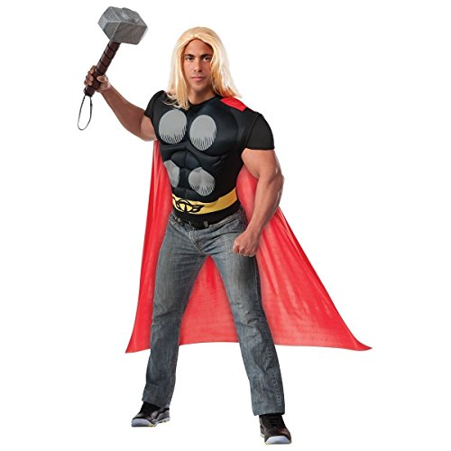 [GSG Hero Muscle Chest Shirt Costume Adult Marvel Universe Halloween] (Lady Thor Costumes)