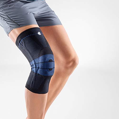 Bauerfeind GenuTrain Knee Support Brace (New Version) - Targeted Support for Pain Relief & Stabilization for Weak, Swollen & Injured Knees & Arthritis - Size 5 - Color Black (Color: Black (New Version), Tamaño: 5)
