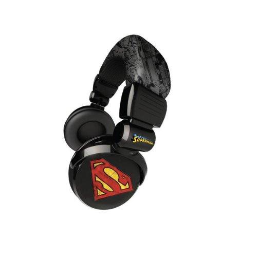 Ihip Dcf26-Su Dc Comics Dj Style On-Ear Headphones - Superman (Black)
