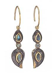 Amethyst By Rahul Popli Grey Silver Dangle & Drop Earrings