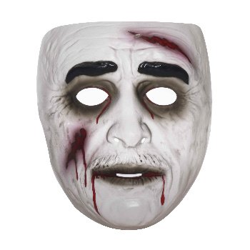 Transparent Male Zombie Mask