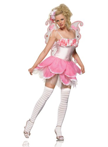 Women's 2PC Rose Fairy Sexy Holiday Party Costume