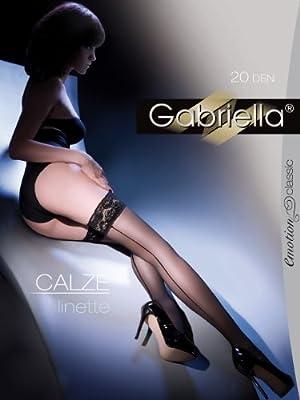 Gabriella - Elegante Transparente Damen Strümpfe 20 DEN - Calze Linette