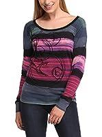 Desigual Camiseta Manga Larga Lemí (Gris / Violeta)