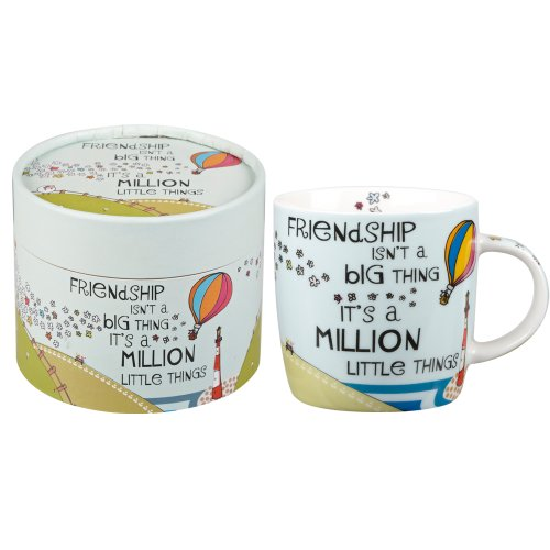 the-good-life-million-little-things-taza-de-porcelana-con-texto-en-ingles
