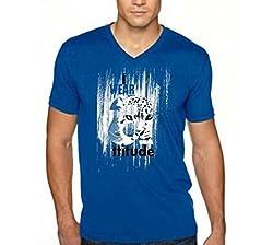 Dmovlov Men's Cotton T-Shirt (D4VN0M0RB _Royal Blue_38)