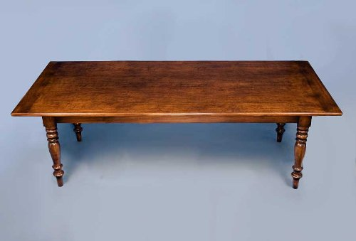 Cherry Rustic Farm Table with Turned Legs