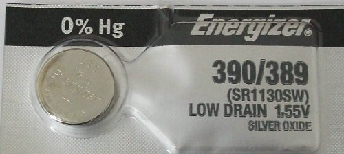 Energizer 389 390 Silver Oxide 189, SR1130SW, SR1130W 1pc (Each) (189 Watch Battery compare prices)