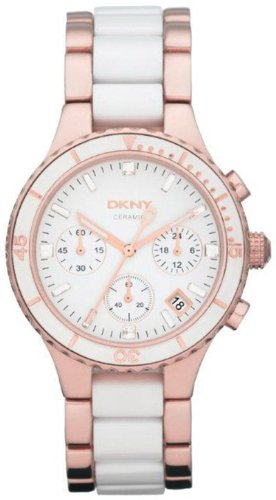 DKNY Ceramic White Dial Women's Watch #NY8504
