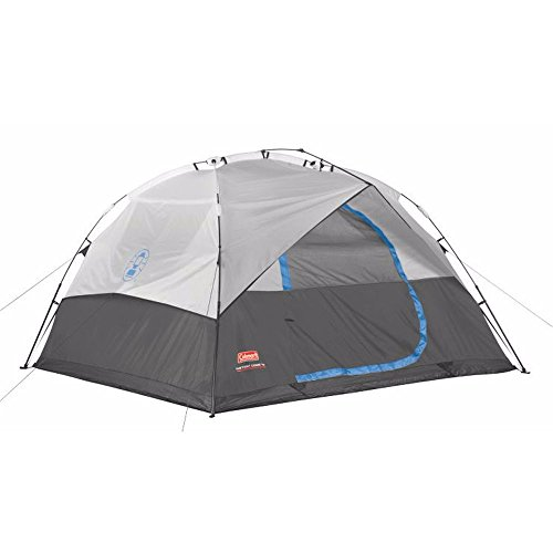 Coleman 6p Double Hub Instant Dome Tent Gray Blue Black