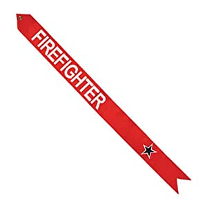 Vertical Firefighter Blue Star Streamer and Decal (36 in. x 3 in.)