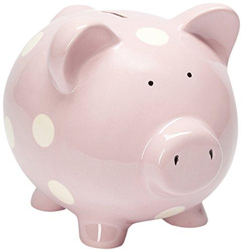 Elegant Baby Classic Dot Pastel Pink Piggy Bank