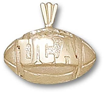 Central Arkansas Bears UCA Football Pendant - 14KT Gold Jewelry by Logo Art