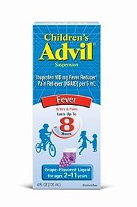 Children's Advil Liquid Grape, 4-Ounce (Pack of 3)