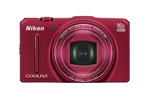 Nikon COOLPIX S9700 Compact Digital Camera - Red (16.0 MP Black Friday & Cyber Monday 2014