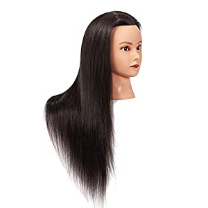 26-28 Mannequin Head Hair Styling Training Head Manikin Cosmetology Doll Head Synthetic Fiber Hair Hairdressing training model with free clamp (6RB1711LB0220)