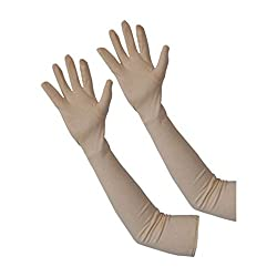 Retina Stylish Sun Protection Cotton Arm Sleeve (Beige)