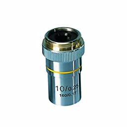 3B Scientific Achromatic Objective Lens for W30600, W30605, W30610 Digital Course Microscopes, 10x Magnification, 1/4\