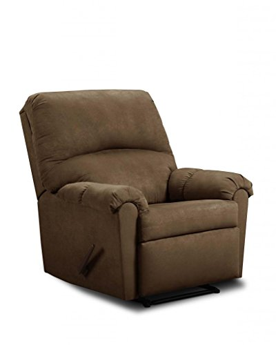Simmons Upholstery U275-19 Flat Suede Chocolate Rocker Recliner front-728693