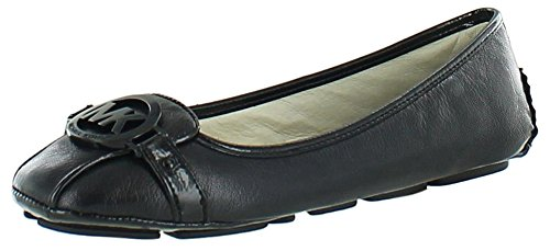 Michael Michael Kors Women'S Fulton Ballet Flat,Black Leather,9 M Us