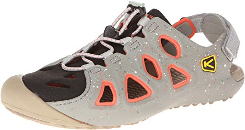 Keen Women'S Class 6 Sandal,Neutral Gray/Hot Coral,9 M Us front-963508