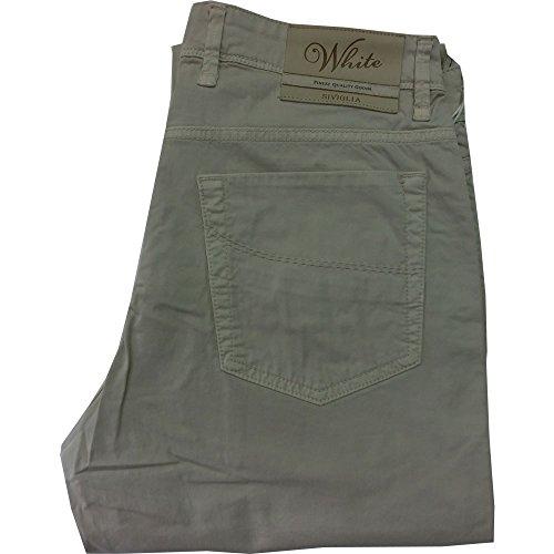 Siviglia pantalone 1011 Uomo - elasticizzato 96% cotone 4% elastane, made in italy, Sabbia (34)