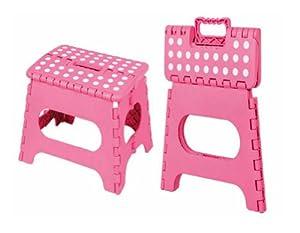 Amazon Com Home Basics Folding Step Stool Pink Toys