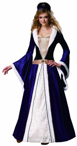 HGM Costume Women's Elegant Empress, Black/Blue/White, Medium (Royal Empress Adult Costume)