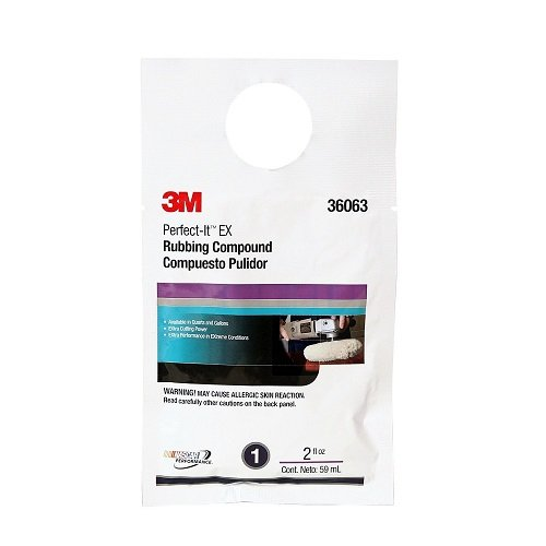 3M 36063 Perfect-It EX Rubbing Compound - 2 oz. Packet (Tamaño: 2 Ounce, single pack)