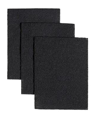 Broan BP58 Non-Ducted Charcoal Replacement Filter Pads for Range Hood, 7-3/4 by 10-1/2-Inch, 3-Pack