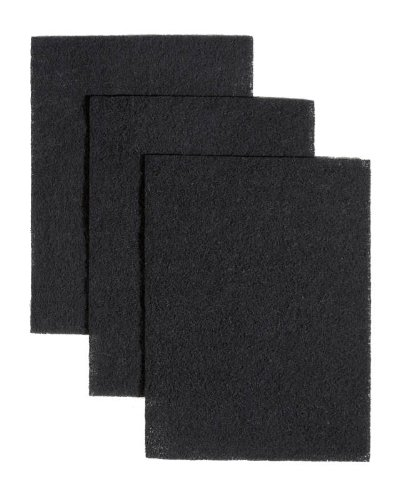 Broan BP58 7-3/4-Inch by 10-1/2-Inch Non-Ducted Charcoal Replacement Filter Pads for Range Hood, 3-Pack