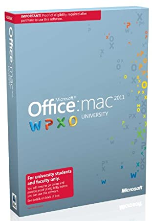 Microsoft Office Mac University 2011 with SP1 Mac