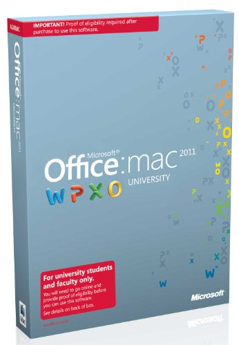 Office Mac University 2011 With Sp1 DVD 2/1/2012