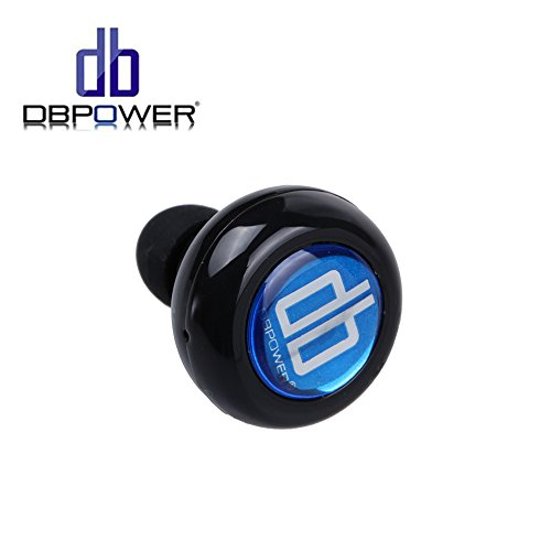 dbpower mini stereo wireless bluetooth earbuds headphones with mic black. Black Bedroom Furniture Sets. Home Design Ideas