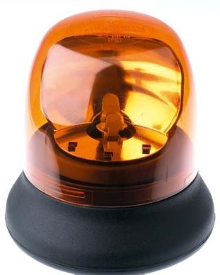 Rotating Halogen Beacon, Permanent Mount-Amber front-905971