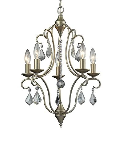 Artistic Lighting 6-Light 16″ Chandelier, Aged Silver