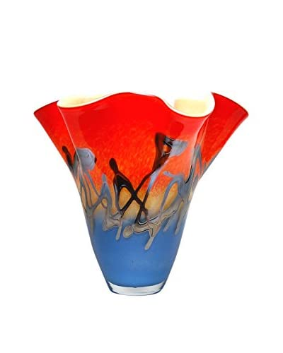 Mila Brown Odyssey Ruffle Vase