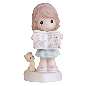 """Precious Moments 2011 Collector's Club MOF """"The Good News Is He Loves You"""" Girl with Newspaper Figurine"""