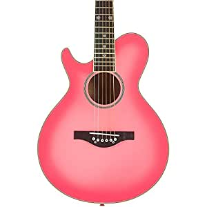 Daisy Rock Wild Wood Short Scale Acoustic Left Handed Guitar, Pink Burst available at Amazon for Rs.27703
