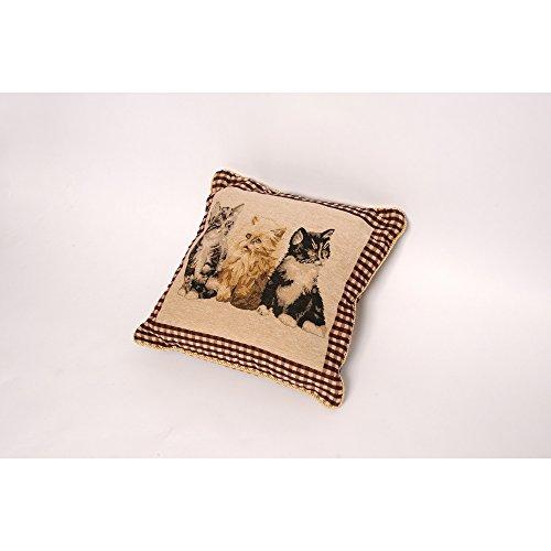 Zier Kissen Bezug Tapestry (ohne Kissen) (43 x 43 cm) (Katze)