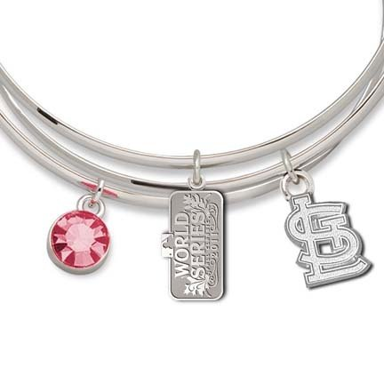 MLB St. Louis Cardinals 2011 World Series Championship Triple Bangle Bracelet by LogoArt®