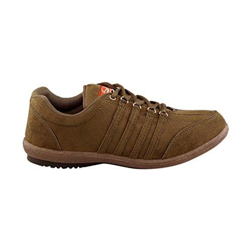 66ddcb6600b5 Buy Lancer Men La-107 Tan Suede Sneakers on Amazon