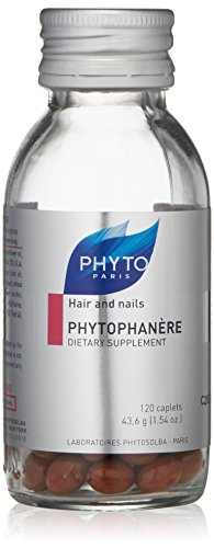 PHYTO Phytophanère Hair and Nails Dietary Supplement, 2 Month Supply, 120 Count