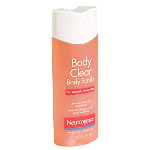 Neutrogena Body Clear Body Scrub for Smooth, Clear Skin, 8.5 Ounce (Pack of 3)