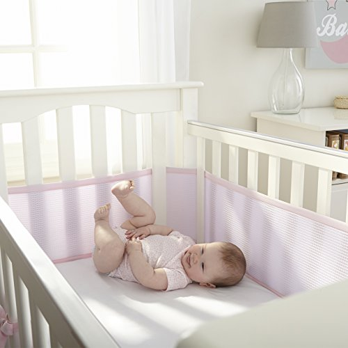 breathablebaby deluxe breathable mesh crib liner pink