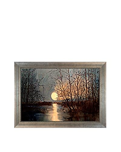 "Justyna Kopania ""Moon II"" Framed Canvas Print"