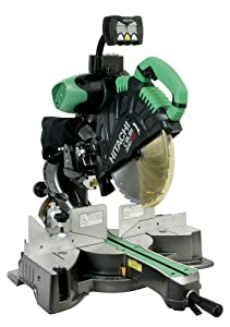 Hitachi C12LSH 15 Amp 12-Inch Dual Bevel Sliding Compound Miter saw with Laser Guide and Digital Bevel Display